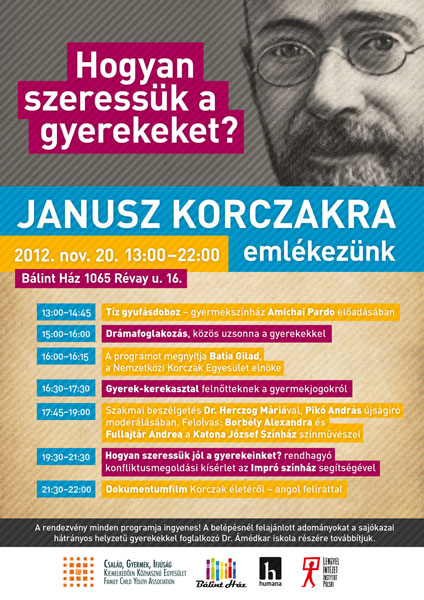 Korczak Charity Event flyer - b32 design